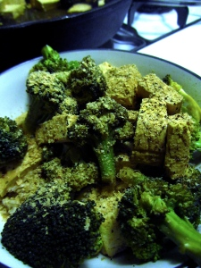 Broccoli & Tofu with Crushed Red Pepper Infused dressing