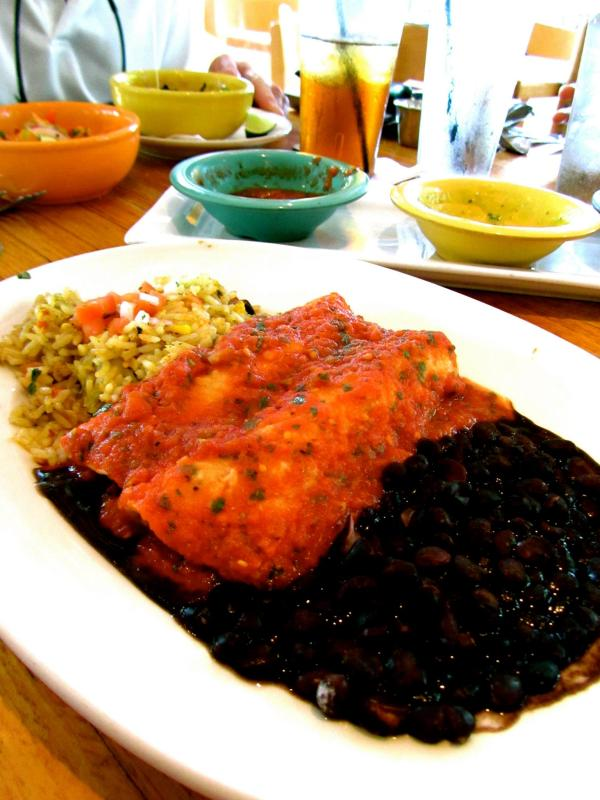 bean & veggie enchiladas