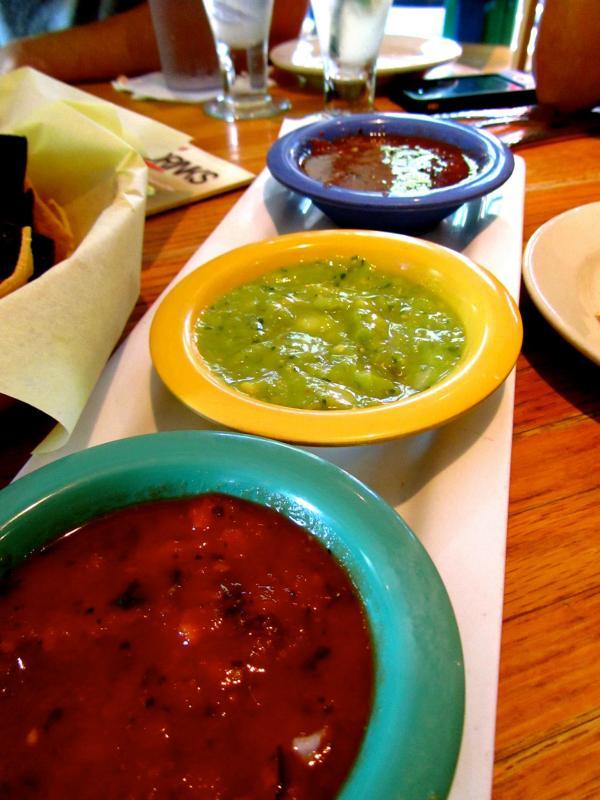 a trio of salsa