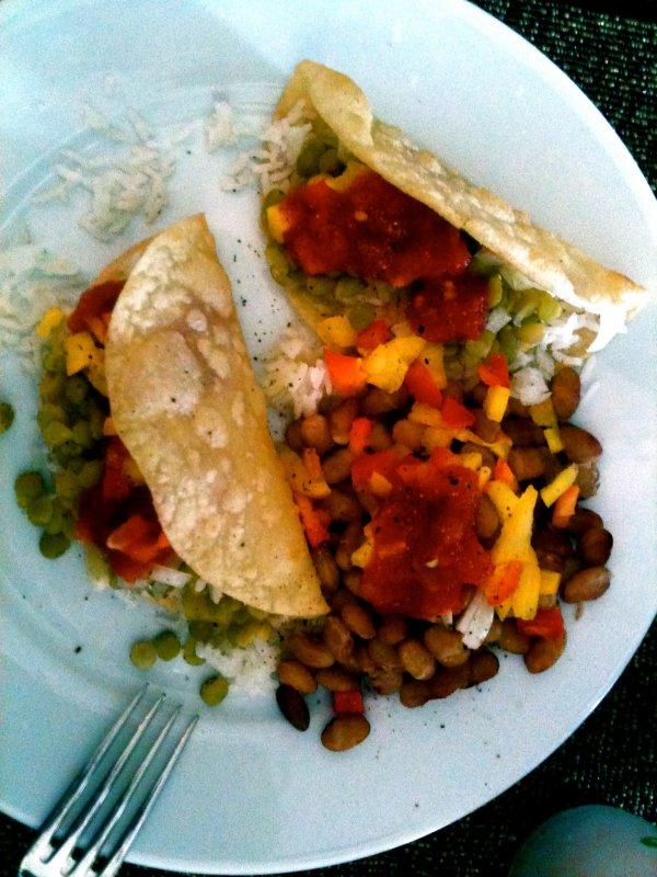 split pea tacos