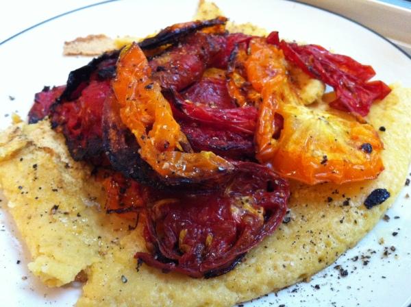 roasted tomato socca
